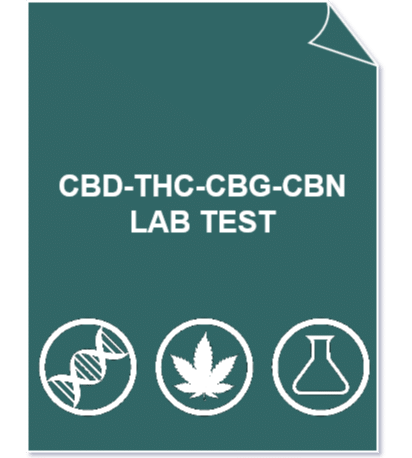 CBD THC CBG CBN 1 - full Cannabinoids profile lab test (CBD/A, THC/A, CBG/A, CBN) + CBD/THC ratio